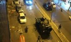 صورة إنفجار في مدينة هاتاي بتركيا وسيارات الإسعاف والاطفاء تتوجه لمكان التفجير